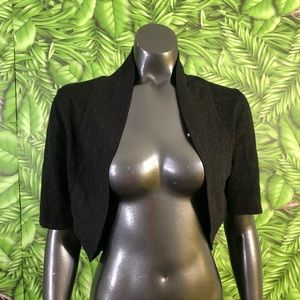 Eliza J Cropped Glitter Cardigan Sweater shrug